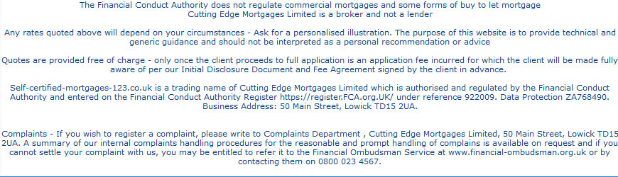 bad credit Non Status Mortgages